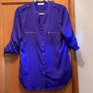 Purple blouse with cute gold detailing